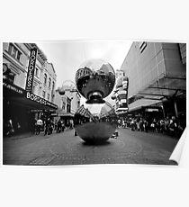 Malls Balls - Monochrome Poster