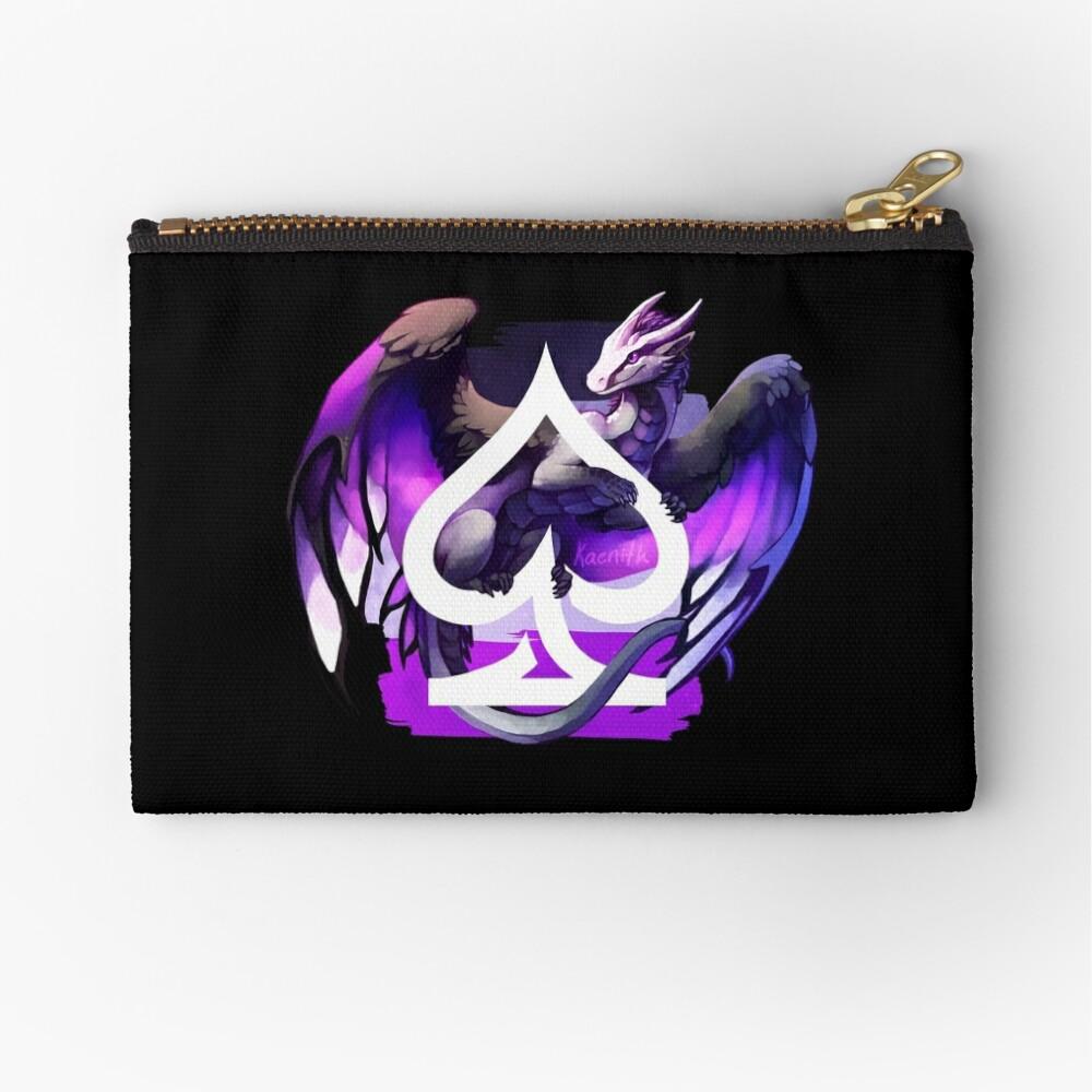 Asexual Pride Dragon Zipper Pouch