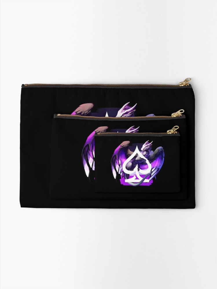 Alternate view of Asexual Pride Dragon Zipper Pouch