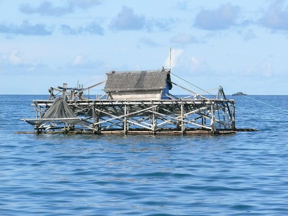 Indonesian Fishing Platform by elsha
