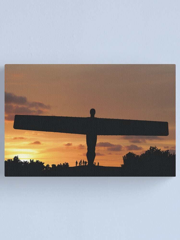 Alternate view of Angel at sunset Canvas Print