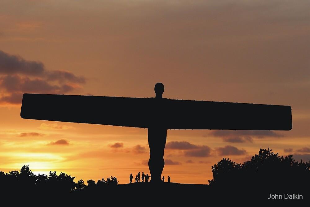 Angel at sunset by John Dalkin
