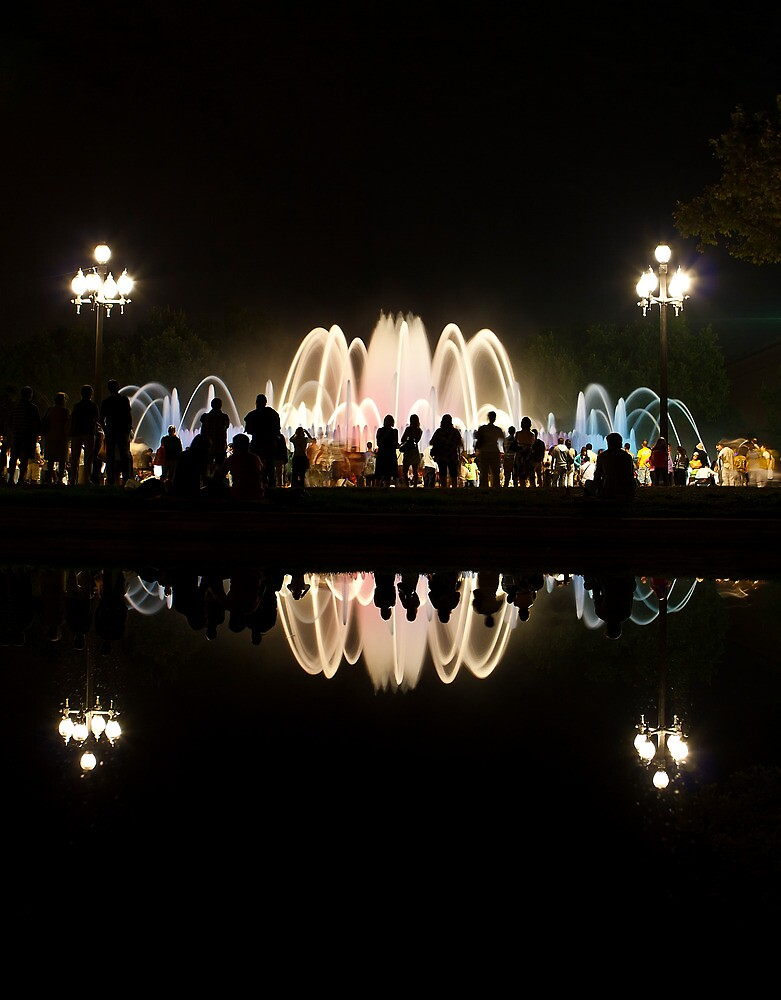 Magic Fountain of Montjuic show in Barcelona by Andrey Vostrikov