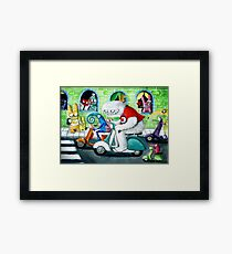 Scooter rally - Yeti and Co. Framed Print