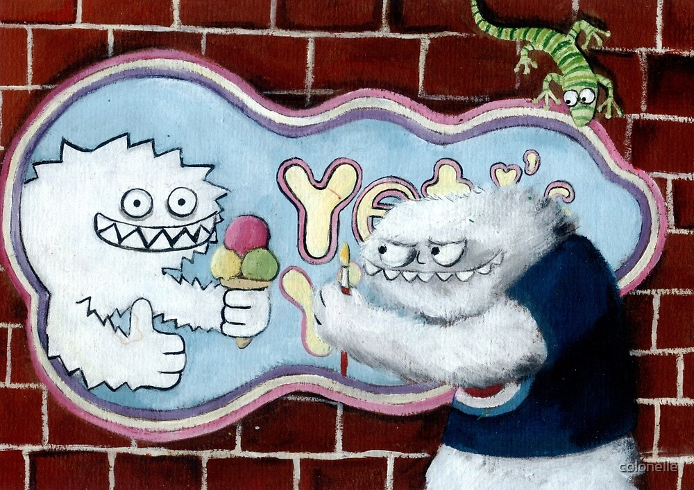 Yeti and his Logo by colonelle