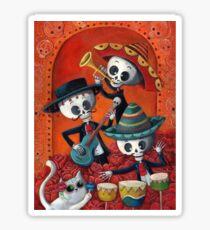 Dia de Los Muertos Skeleton Musicans Sticker