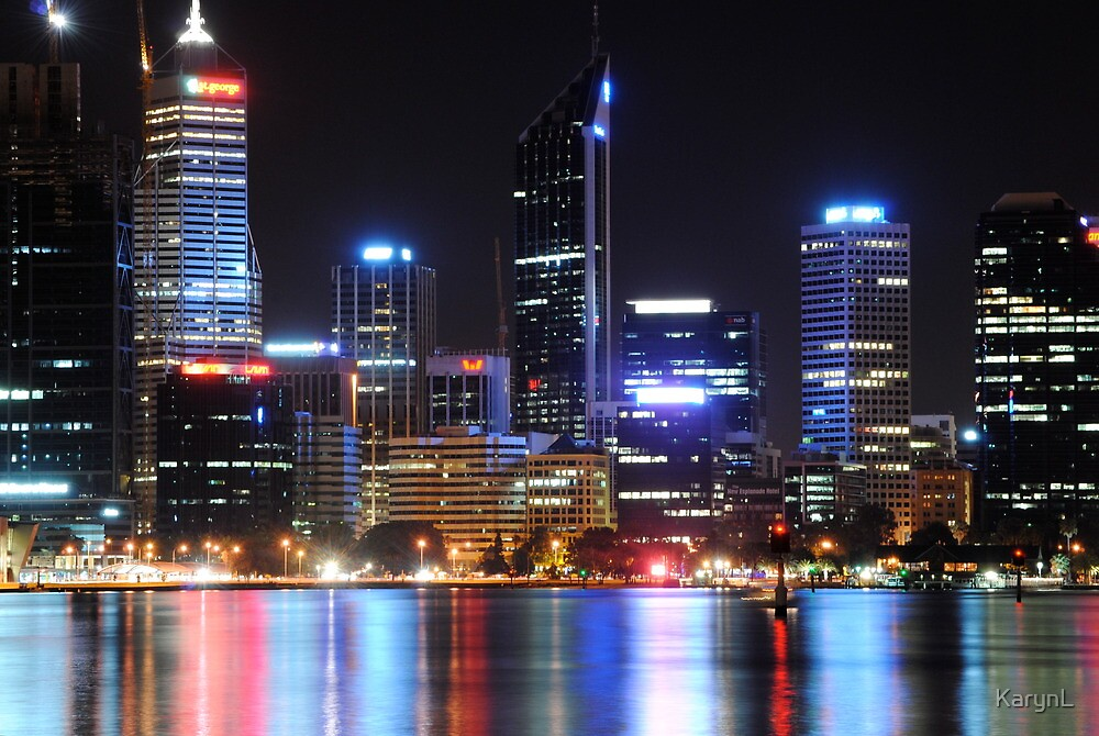 Perth lights by KarynL