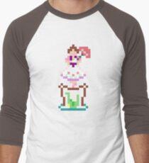 8-bit Haunted Mansion Tightrope Girl Men's Baseball ¾ T-Shirt