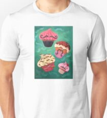 Flying Mustached Cupcakes Unisex T-Shirt