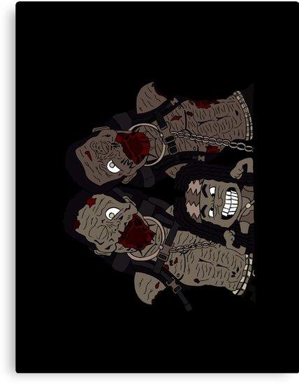 Michonne & her Pets by leidemera