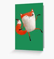 Happy Dancing Fox Greeting Card