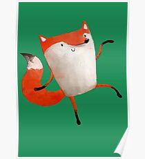 Happy Dancing Fox Poster