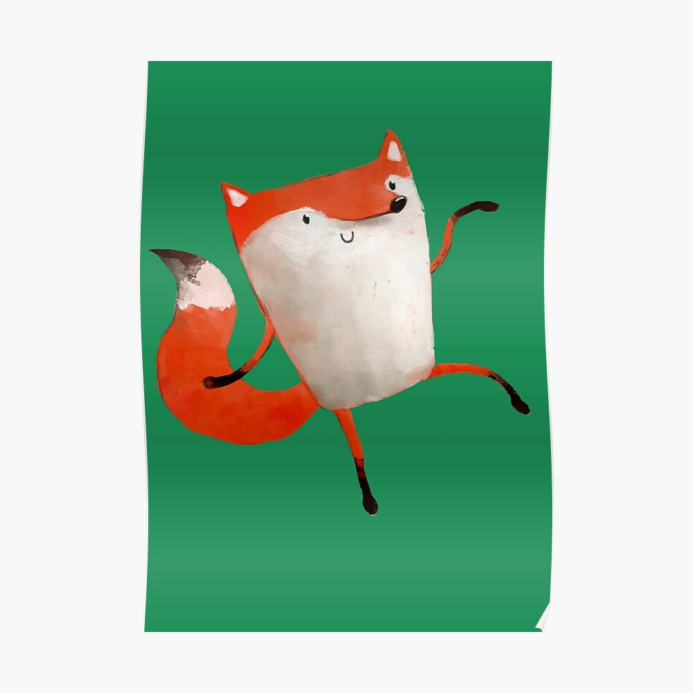 Happy Dancing Fox Poster