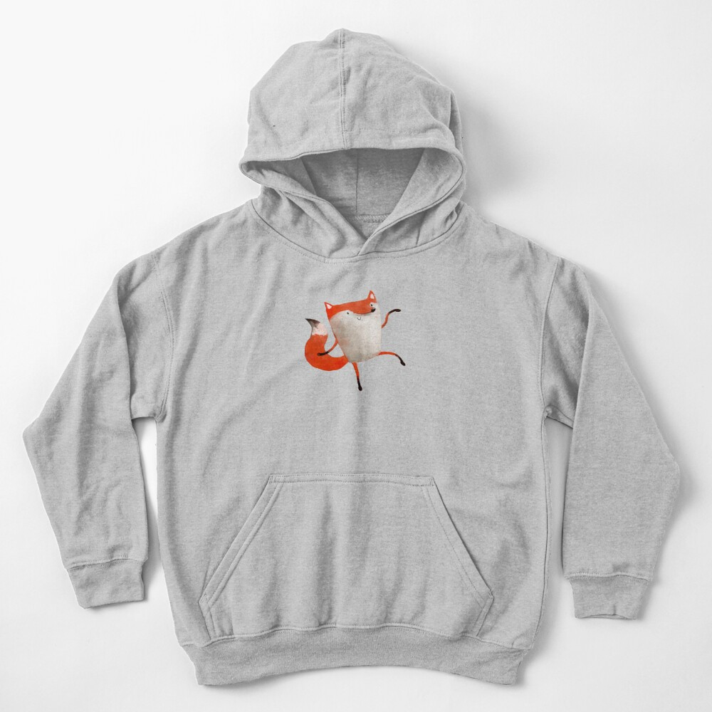 Happy Dancing Fox Kids Pullover Hoodie
