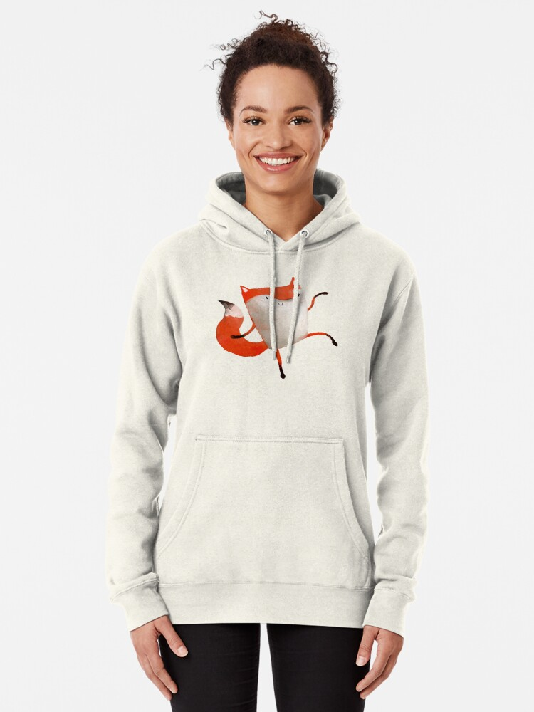 Alternate view of Happy Dancing Fox Pullover Hoodie