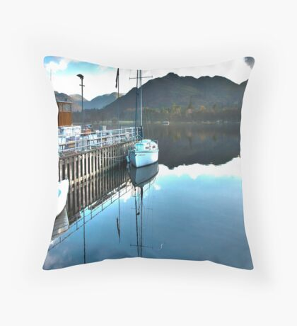 Down by the Dock Throw Pillow