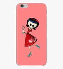Sweet & Scary Skeleton Pin Up Girl iPhone Case