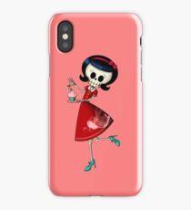Sweet & Scary Skeleton Pin Up Girl iPhone Case/Skin