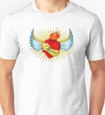 Old School Mom's Heart Unisex T-Shirt
