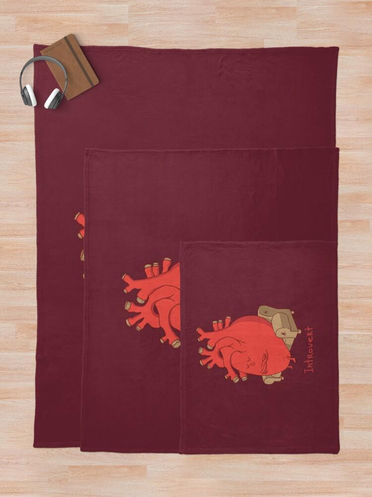 Alternate view of INTROVERT Throw Blanket