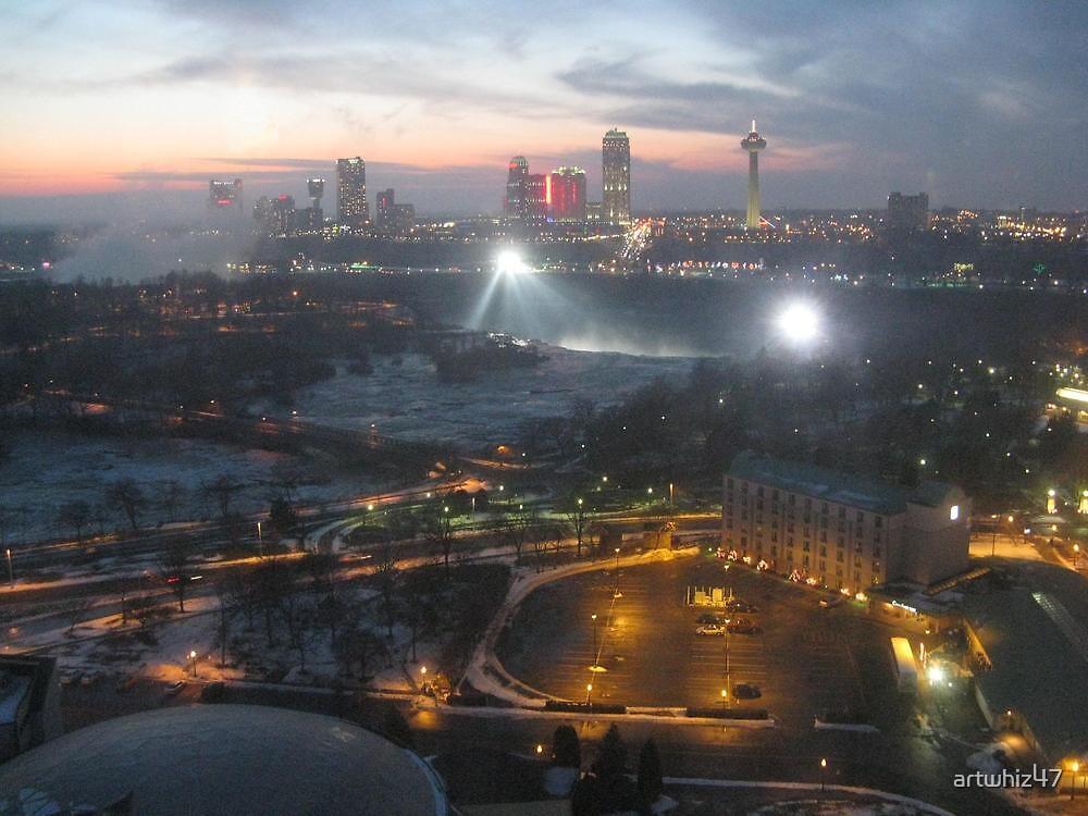 Niagara At Night by artwhiz47