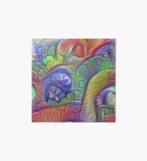 #DeepDream abstraction Art Board Print