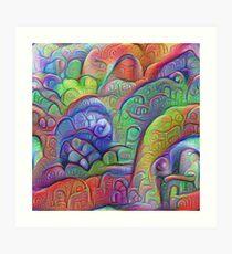 #DeepDream abstraction Art Print