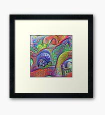 #DeepDream abstraction Framed Print