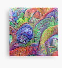 #DeepDream abstraction Metal Print