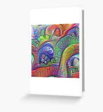#DeepDream abstraction Greeting Card