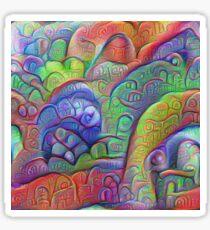 #DeepDream abstraction Glossy Sticker