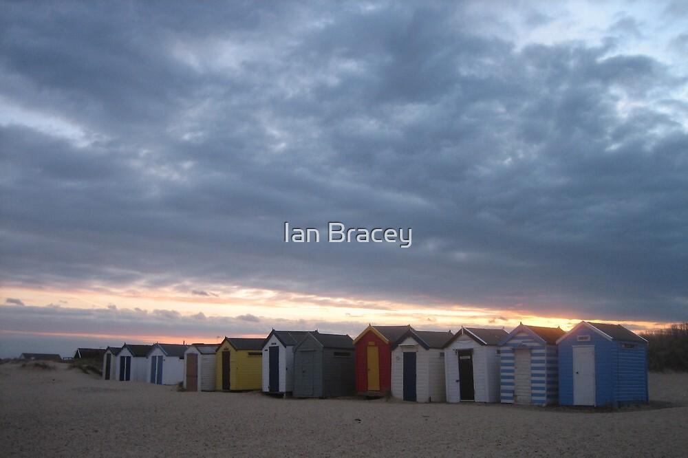 Sunset Beach Huts, Southwold by Ian Bracey