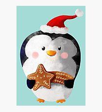 Cute Christmas Penguin Photographic Print