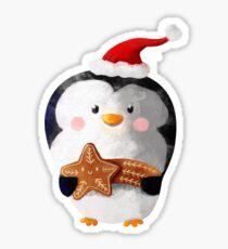 Cute Christmas Penguin Sticker