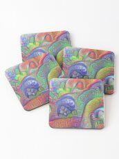 #DeepDream abstraction Coasters