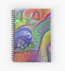 #DeepDream abstraction Spiral Notebook