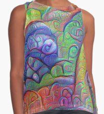 #DeepDream abstraction Sleeveless Top