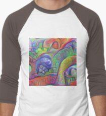 #DeepDream abstraction Baseball ¾ Sleeve T-Shirt