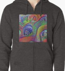 #DeepDream abstraction Zipped Hoodie