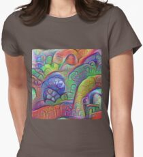 #DeepDream abstraction Fitted T-Shirt