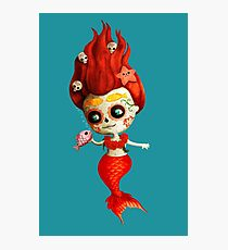 The Day of The Dead Mermaid Photographic Print