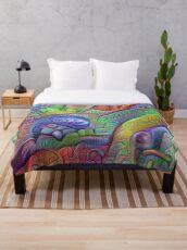 #DeepDream abstraction Throw Blanket