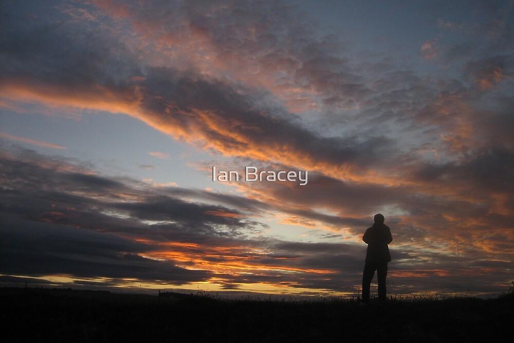 Sunset Silhouette, Bamburgh by Ian Bracey