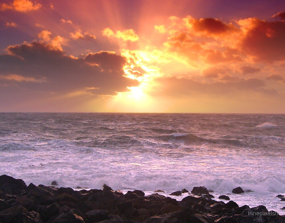 """""""Calm after storm - Port Patrick Irish Sea """" by inneswalsh"""