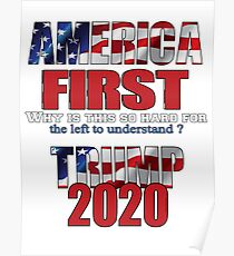 AMERICA FIRST Trump 2020 Poster