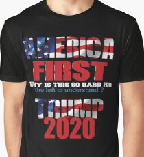 AMERICA FIRST Trump 2020 Graphic T-Shirt