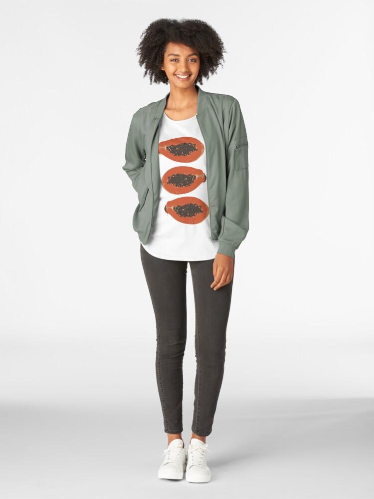 Alternative Ansicht von Papaya Frucht Design Pattern Premium Rundhals-Shirt