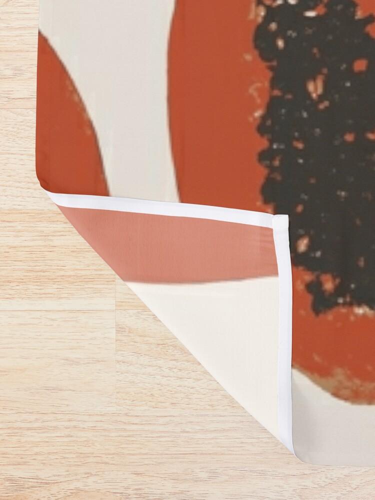 Alternative Ansicht von Papaya Frucht Design Pattern Duschvorhang