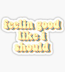 Feelin good like i should song lyrics Surfaces Sticker