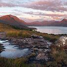 Liathach and South Torridon Hills. At Sunset. Wester Ross. Scotland. by Barbara  Jones ~ PhotosEcosse